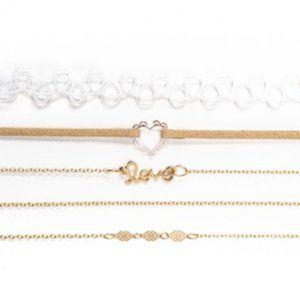 True Craft Jewelry - NIB 5 Piece Choker Necklace Set